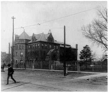 Photo of Library Hall, University of Nebraska campus, c. 1905.