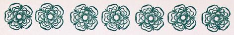 Seven decorative flowers