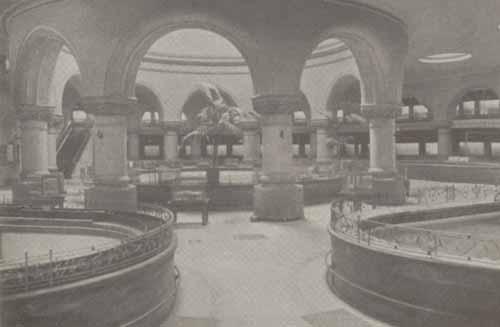 Photo of the interior of the New York Aquarium.