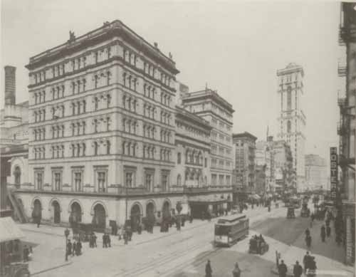 Photo of The Metropolitan Opera House, New York, c. 1890.