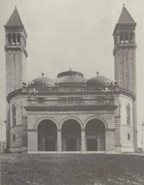 Photo of Carnegie Music Hall, Pittsburgh, c. 1900.