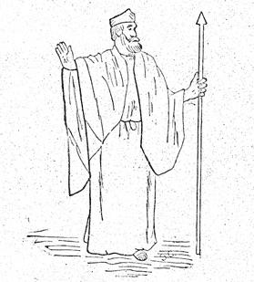 Mr. Fling in costume as King Kreon