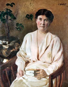 Image of Leon Bakst's portrait of Willa Cather, courtesy Omaha Public Library