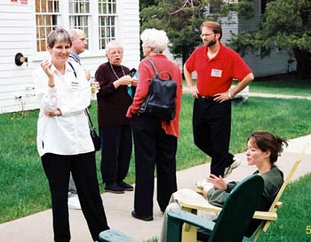 Image of Marilee Lindemann and other seminar participants