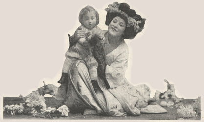 Illustratiion of Farrar as Madame Butterfly.