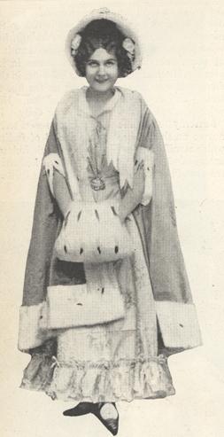 """Illustration of Farrar as Mimi in Puccini's """"La Bohême."""""""