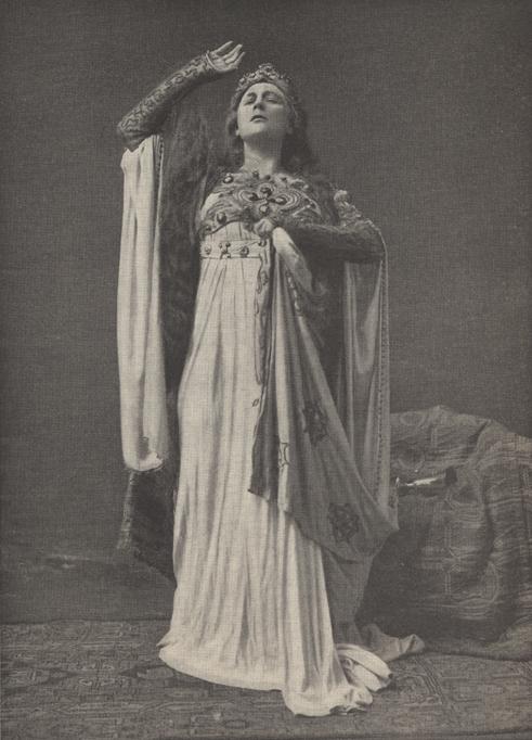 Illustration of Fremstad as Isolde.