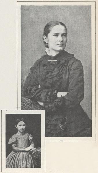 two photographs of Harriet Hurd