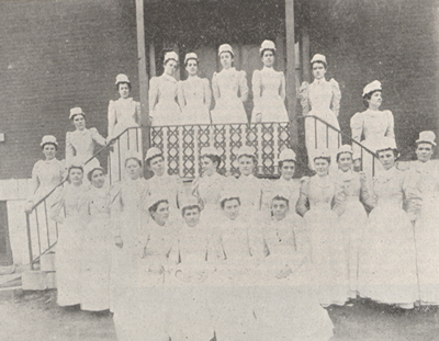 Photograph of a group of young nurses.