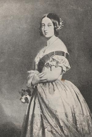 Portrait of Queen Victoria at twenty-one.