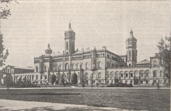 Illustration of the Royal Palace at Hanover.