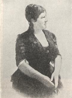 Portrait of Mme. Juliette Adam.