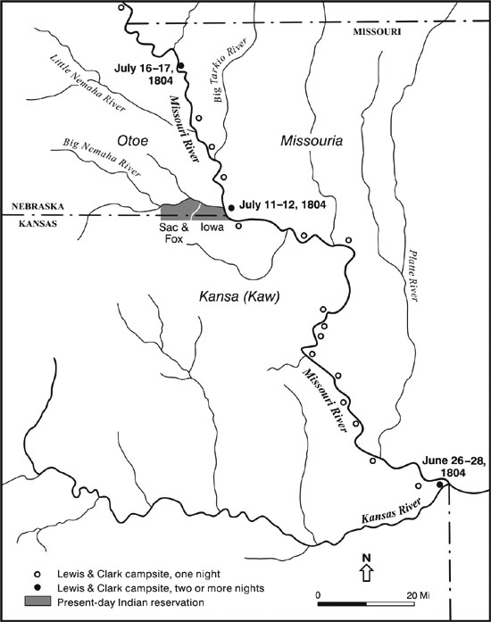 Lewis And Clark On The Great Plains A Natural History Journals - Nebraska rivers map